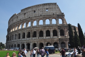 The Colosseum from outside. Looking to visit on Friday.
