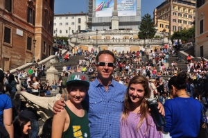 Kids and I at the Spanish Steps