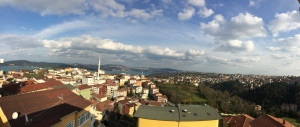 Panorama from Maxa's apartment. Amazing views.