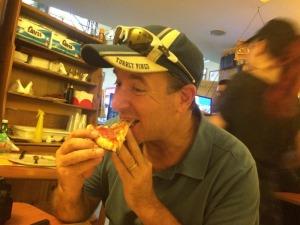 A little gluten free pizza. Yum!