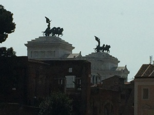 Initial picture taken from the taxi. What a way to start our time in Rome!