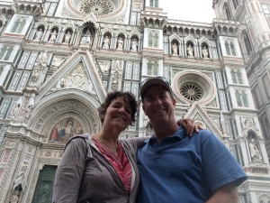 Ilise and I in front of the Duomo