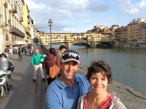 Ilise and I in front of Ponte Vecchio
