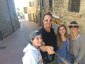 Selfie time in San Gimignano