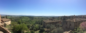 View from the town of San Gimignano.