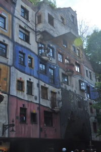 Hundertwasser apartment building in Vienna