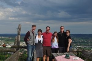 Our new friends we met in Vienna; Milena, Berndt and Bobby from right to left.