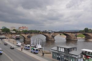 The Elbe River in Dresden