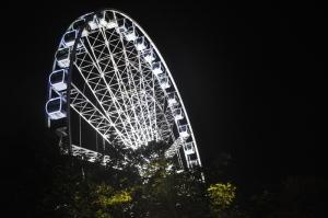 Ferris Wheel in Budapest at night