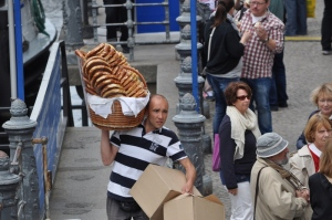 Local pretzel man doing his thing