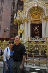 Ilise and I inside the Synagogue