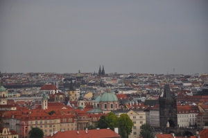 A view of Prague from the castle
