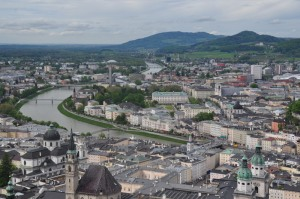 City of Salzburg from the top of the fortress