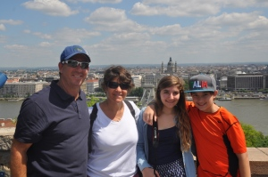 The family at the castle on the Buda side of Budapest