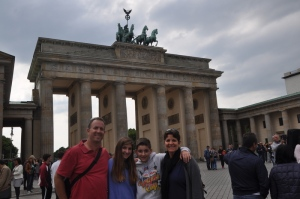 Family at Brandenburg Gate
