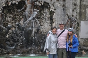 Ilise, Drew and I at Linderhof Castle