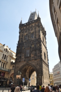 Main entrance tower to Old Town in Prague