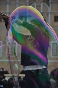 Drew in a bubble