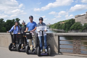 The family on our Segways