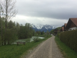 View of the Alps from Oberau