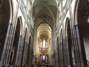 Inside St Vitus Basilica at Prague Castle