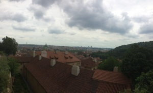 View of the city from the top of Prague Castle