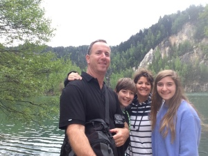 Family selfie at Adrspach Rocks in Czech Republic