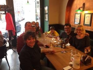 Sanan, Rodka and family at dinner in Prague