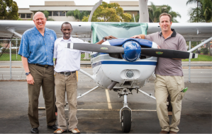 Armstrong w/ Phil Thalheimer (owner of SD Flight Training Int'l) and me.