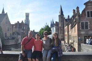 Family in Bruges