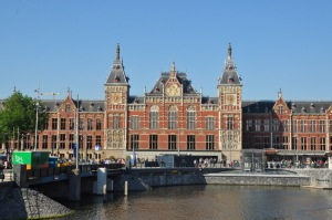 Central Station in Amsterdam, right next to where we took our boat ride.