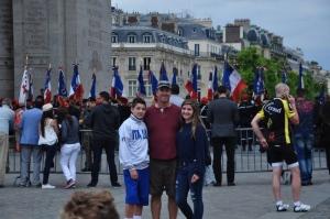 The kids and me at the Arc de Triumph