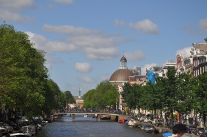 One of the beautiful canals in Amsterdam.