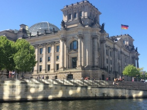 The Reichstag Building from the River Spree