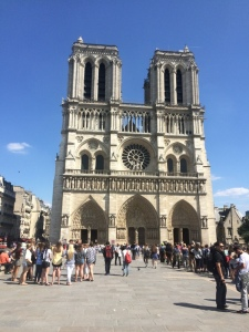 Notre Dame, about a mile from our apartment