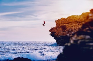 Cliff-jumping-California